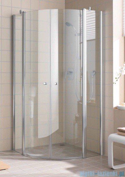 Kermi Atea Kabina ćwierćkolista, szkło przezroczyste, profile białe 120x120cm ATP50120182AK