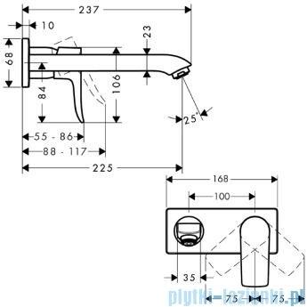 Hansgrohe Metris Jednouchwytowa bateria umywalkowa DN15 bez kompletu odpływowego 31086000
