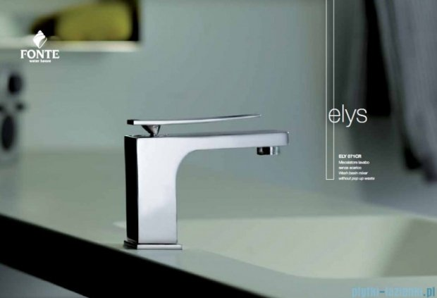 Paffoni Fonte Elys Bateria umywalkowa stojąca z korkiem klik-klak chrom ELY073CR