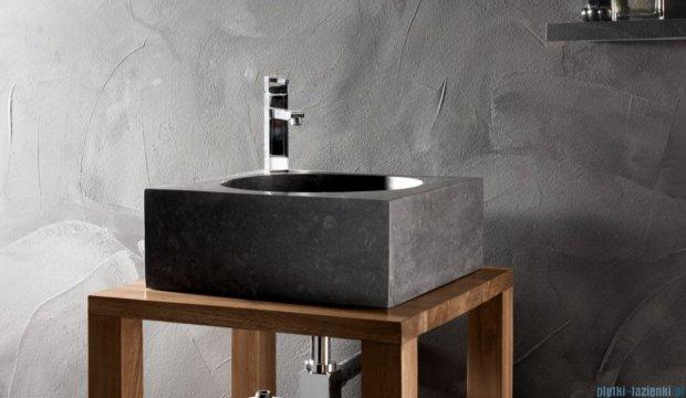 Bathco Versalles umywalka nablatowa kamienna 40x40cm black 00355