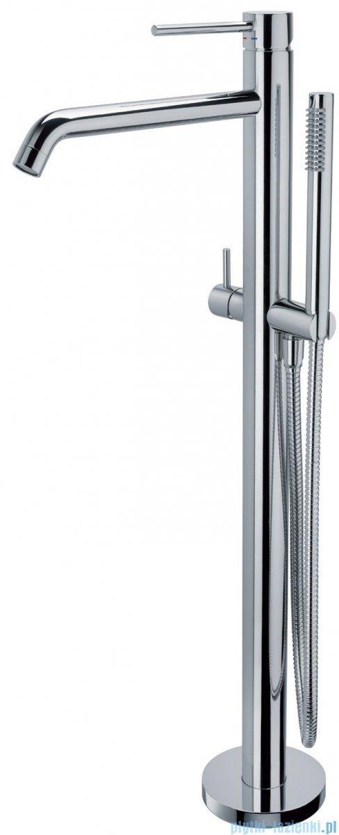 Paffoni  Light bateria wannowa podłogowa 930 mm z zestawem prysznicowym chrom LIG032