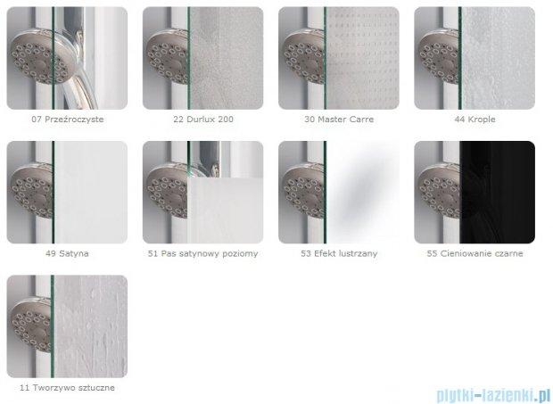 SanSwiss Top-Line Drzwi 2-częściowe 80-100cm profil srebrny TOPKSM20107