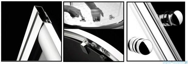 Radaway Premium A Kabina półokrągła 80x80x190 szkło grafitowe 30413-01-05