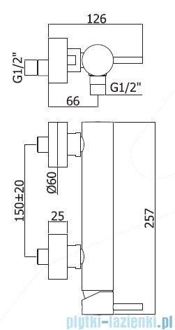 Paffoni  Light bateria natryskowa chrom LIG168