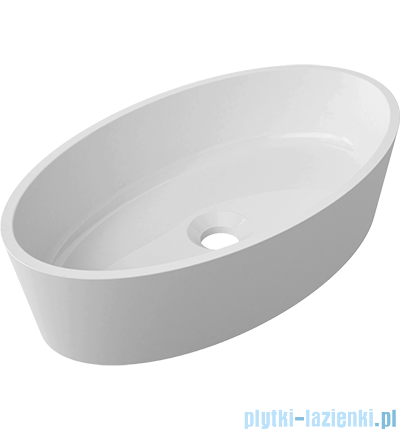 Omnires umywalka nablatowa 50x30cm biały połysk Marble+SIENAUN