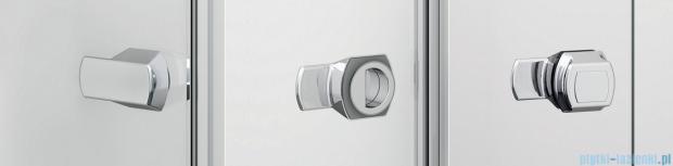 Sanswiss Melia ME13 Drzwi ze ścianką w linii z uchwytami lewe do 120cm efekt lustrzany ME13WGSM11053