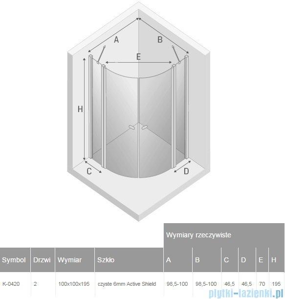New Trendy New Soleo kabina półokrągła R55 100x100x195cm przejrzyste K-0420