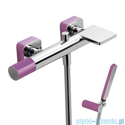 Tres Loft Colors Bateria jednouchwytowa wannowa z kaskadą kolor fioletowy 200.170.01.VI