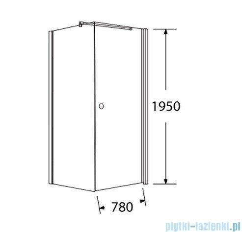 Sea Horse Fresh Line kabina kwadratowa z powłoką drzwi pojedyncze 80x80cm Prawa BK259/1TP+