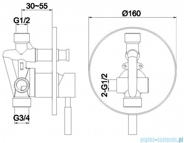 Kohlman Roxin zestaw prysznicowy chrom QW210RR40