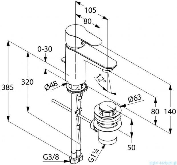 Kludi Objekta Jednouchwytowa bateria umywalkowa DN 10 chrom 322330575