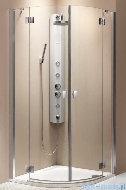 Radaway Essenza PDD kabina 80x80 szkło brązowe + brodzik Delos A + syfon