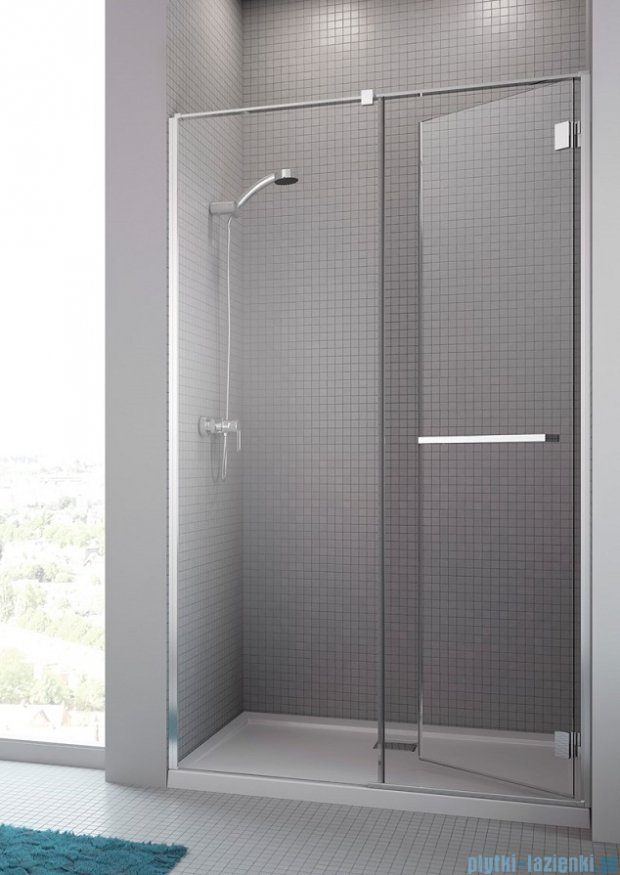 Radaway Carena DWJ Drzwi prysznicowe 120 prawe szkło przejrzyste + brodzik Doros D 34332-01-01NR