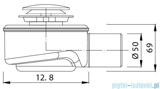 Syfon brodzikowy Ø 52 click-clack New Trendy S-0005