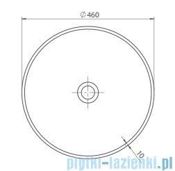 Cerastyle Zero umywalka 46x46cm nablatowa 071600