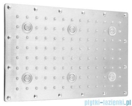 Corsan deszczownica prostokątna LED 30x20 cm chrom CDM30