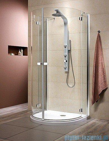 Radaway Kabina prysznicowa Fuenta P 100x90 szkło przejrzyste + Brodzik Delos P 381011-01N