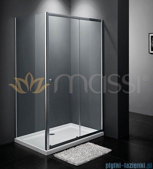 Massi Movo kabina prostokątna przejrzyste 100x80x185cm chrom MSKP-A405