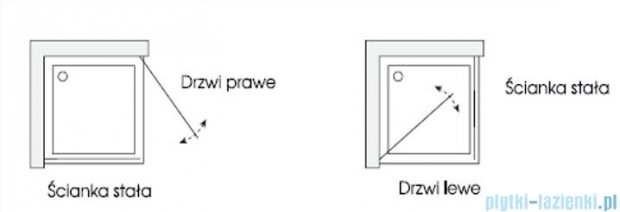 Sea Horse Fresh Line kabina kwadratowa 90x90x195 grafitowe/lustro BK259DGSSL