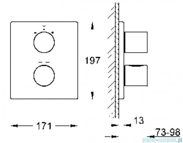 Grohe Grohtherm 3000 Cosmopolitan bateria termostatyczna do obsługi wiecej niż jednego wyjścia wody 19567000