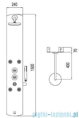 Tres Lex-D Panel natryskowy z termostatem 1.93.123