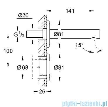 Grohe Essence E elektroniczna bateria do montażu podtynkowego 36252000