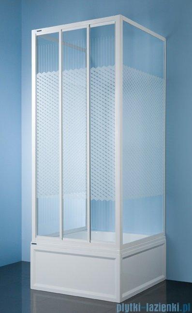 Sanplast kabina przyścienna kwadratowa KT/DTr-c-90 szkło: Sitodruk W4 600-013-0931-01-410