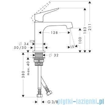 Hansgrohe Axor Citterio M Jednouchwytowa bateria umywalkowa DN15 34010000