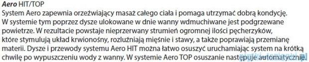 Riho Geta wanna asymetryczna 170x90cm lewa z hydromasażem HIT Aero11 BA89H1