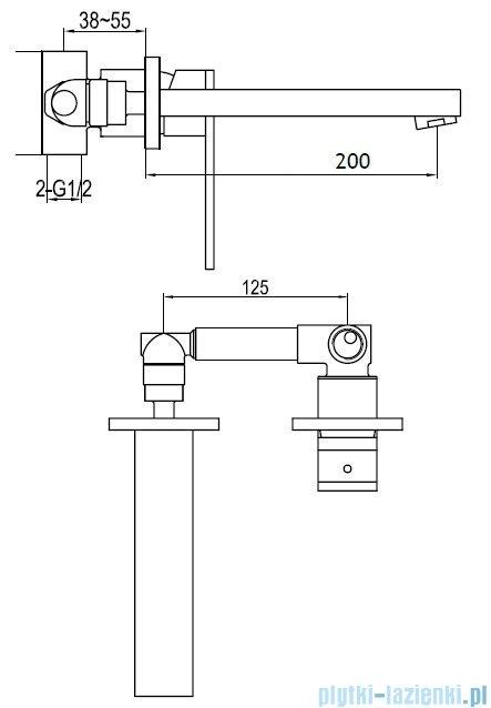 Kohlman Nexen Podtynkowa bateria umywalkowa QW188U