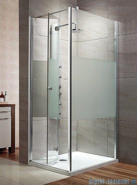 Radaway Eos KDJ-B kabina prysznicowa 80x100 lewa szkło przejrzyste + brodzik Doros D + syfon 37443-01-01NL