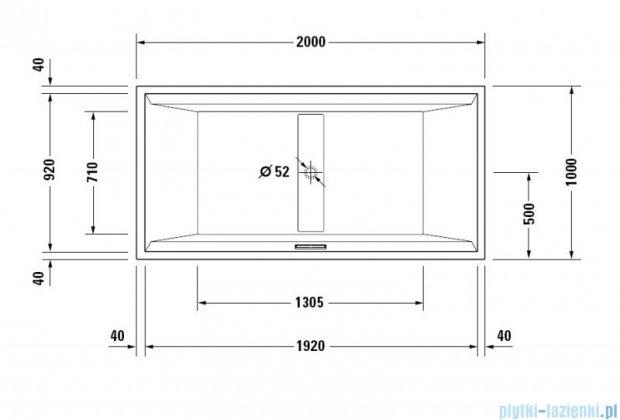 Duravit 2nd floor wanna prostokątna 200x100cm do zabudowy 700161 00 0 00 0000