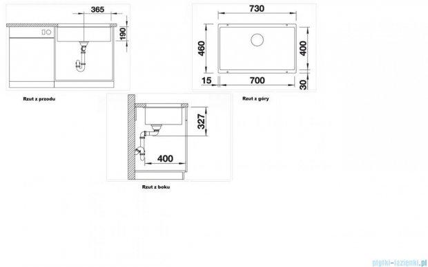 Blanco Subline 700-U zlewozmywak Silgranit PuraDur  kolor: kawowy  z k. aut. 515779