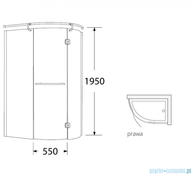 Sea Horse Sigma kabina natryskowa narożna Klio prawa 120x85cm grafitowe BK261GP