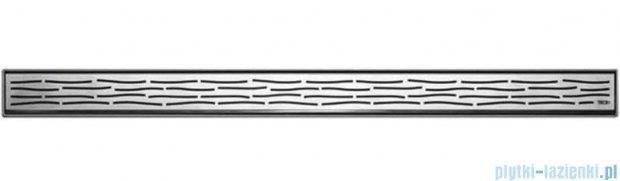 Tece Ruszt prosty Organic ze stali nierdzewnej Tecedrainline 120 cm stal szczotkowana 6.012.61