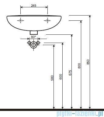 Koło Idol Umywalka 50cm bez otworu M11050000