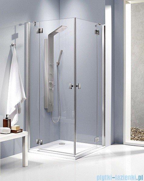 Radaway Kabina prysznicowa Essenza KDD 90x80 szkło intimato 32875-01-12NL