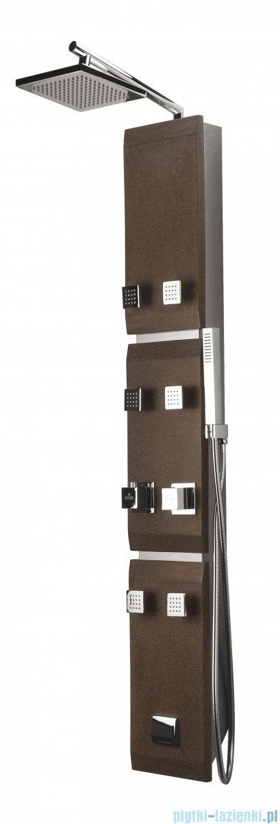 Deante Jaguar Stone panel natryskowy z baterią termostatyczną brąz NQS 451K
