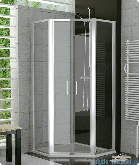 SanSwiss Top-Line Pięciokątna kabina prysznicowa TOP52 z drzwiami otwieranymi 100x100cm TOP5271000107