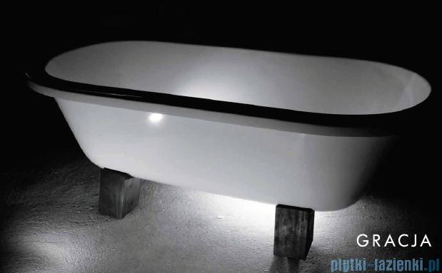 Besco Gracja wanna owalna Retro 160x75 + nogi drewno #WKG-160WO+K