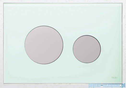 Tece Przycisk spłukujący ze szkła do WC Teceloop szkło zielone przyciski białe 9.240.651