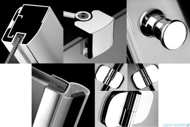 Radaway Torrenta Kdj kabina kwadratowa 90x90 prawa szkło grafitowe + Brodzik Delos C + Syfon 32202-01-05NR