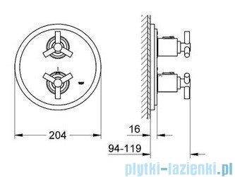 Grohe Atrio bateria termostatyczna do obsługi jednego wyjścia wody chrom 19394000