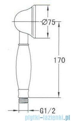Omnires Art słuchawka prysznicowa 1-funkcyjna chrom DECO-R