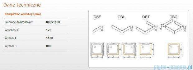 Sanplast Obudowa do brodzika OBL 80x110x17,5 cm 625-403-1340-01-000