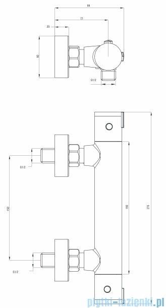 Deante Begonia bateria natryskowa termostatyczna chrom BCB 04BT