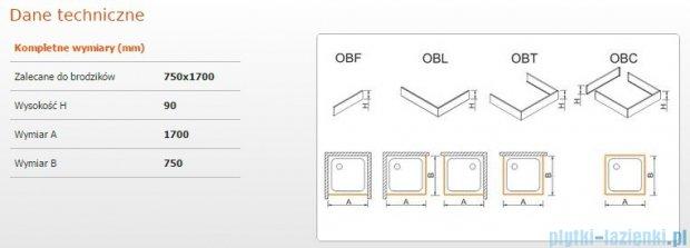 Sanplast Obudowa brodzika OBL 75x170x9 cm 625-400-1300-01-000