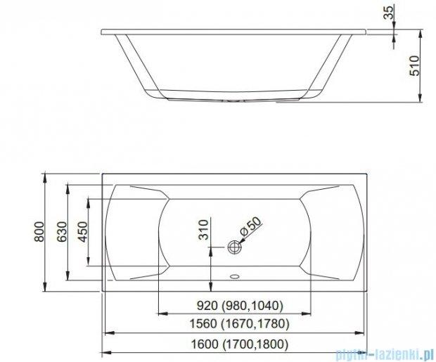 Aquaform Linea wanna prostokątna 180x80cm 05232