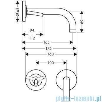 Hansgrohe Axor Uno² Jednouchwytowa bateria umywalkowa z osobnymi rozetami 38113000