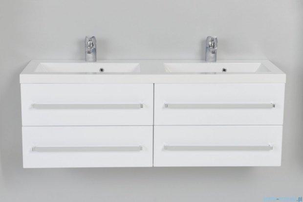 Antado Variete szafka z umywalką, wisząca 120 biały połysk FM-C-442/6/2GT + FM-C-442/6/2GT + UMMC-1200x390D